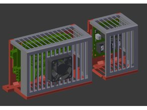 Modular RAMPS & MOSFET cases for 2040 frame with magnetic lid