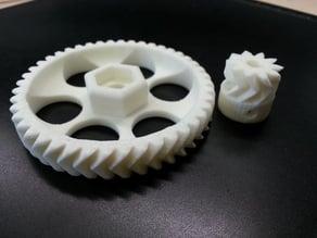 Extruder gears for prusa i3 rework