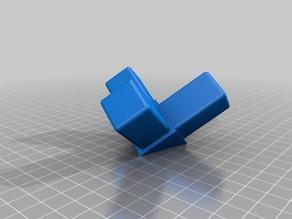 25x25 square tube corner bracket