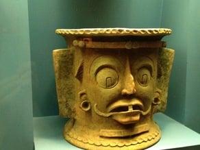 Grotesque Mayan Urn