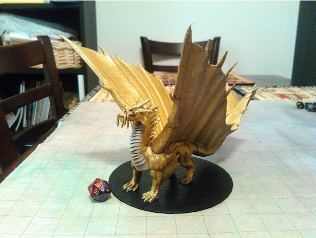 Gold Dragon by mz4250 - Thingiverse