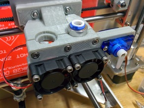 P3Steel - E3d V6 bowden dual extruder mount