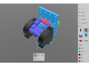 Anet A8 E3D Extruder Carriage Dual fans and Bltouch