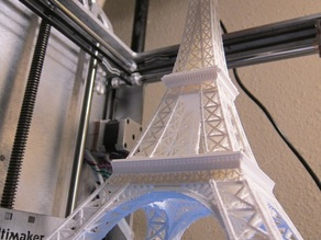 Eiffel Tower (Scaled 3x) printed on Ultimaker