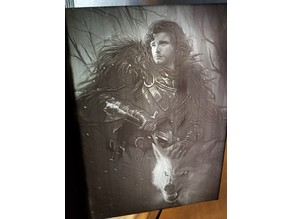 Jon Snow and Ghost Lithophane