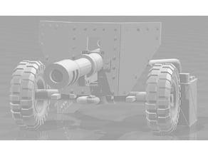 Bigger shield, easier carrige print, power pack - WH40k