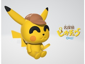 Detective Pikachu Figurine & Keychain - by Objoy Creation