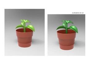 Flowerpot minature toy