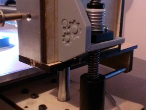 """Printrbot Z-X Carriage Upgrade Leadscrew Support """"Wings"""" Rev. E1"""