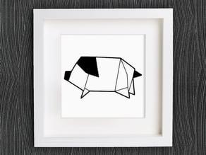 Customizable Origami Pig