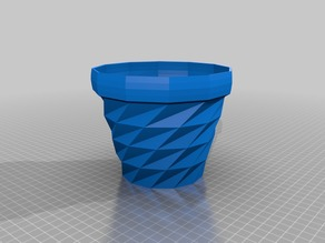 Triangulated Flower Pot without holes