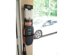 Theft deterrent mount for Opel Ampera charging cable with meter