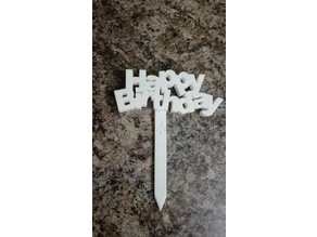 Happy Birthday plant sign tag