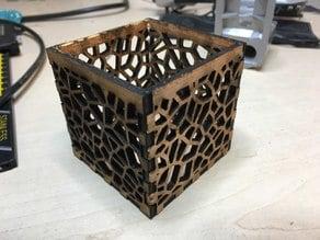 Voronoi Tealight Holder - Laser Cut