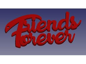 """Friends Forever"" Keychain by Techie_Baksh"