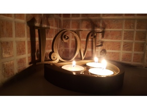 Valentines Floating Candle Holder