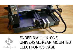 Ender 3 all in one, universal rear electronics case