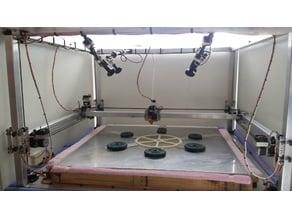 1200 x 1200 Large scale DIY 3D printer - Sub33D v3.07