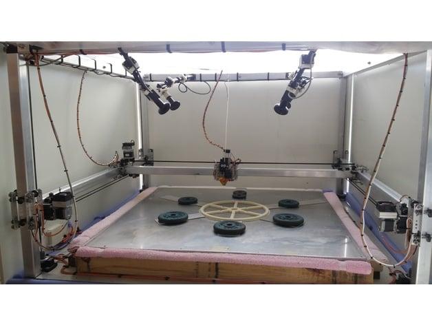 1200 x 1200 large scale diy 3d printer sub33d by for 3d printer build plans