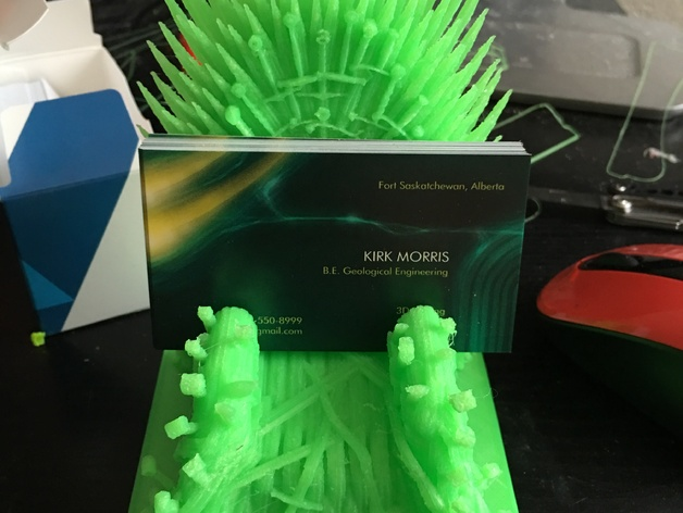 Business Card Holder Of Thrones Iron Throne Got By X306xcptnkirk Thingiverse