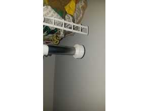 Closet rod end (closet bar end)