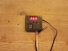 12v Thermostat W1209 Housing, Case with pushbuttons -- W1209 Gehäuse mit Druckknöpfen