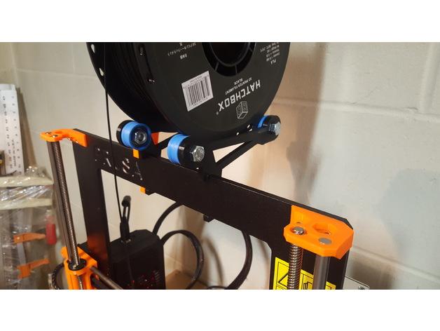 New Prusa i3 MK1 & MK2 Spool Holder V2 - Quick Change by