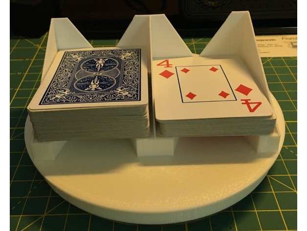 Astonishing Double Playing Card Turntable By Flashsolutions Thingiverse Download Free Architecture Designs Scobabritishbridgeorg