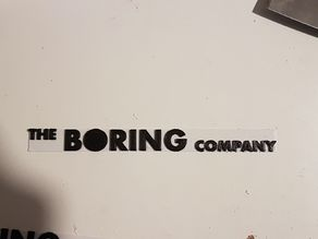 Boring Letters (For Boring Company Flamethrower)