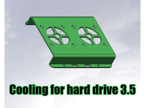 Cooling for hard drive 3.5