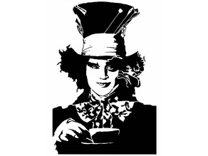 The Mad Hatter stencil