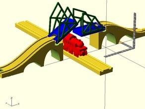 Drawbridge for wooden toy (Thomas) train set