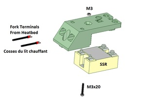 SSR (solid state relay) cover for 3030 and 2020 extrusion profiles