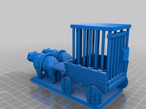 Prisoner wagon for 28mm gaming