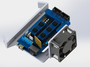 arduino ramps 1.4 with 60mm fan mount, 60 degree v mount