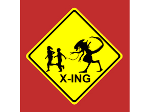 Child Crossing (X-ing) Sign