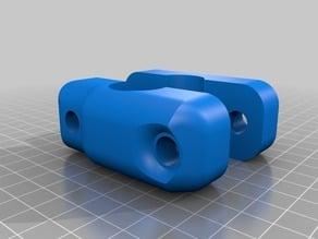 Kayak track clamp for DIY Fish Finder transducer mount