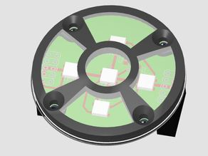 AS5045B Magnetic Position Sensor with WS2812B LEDs