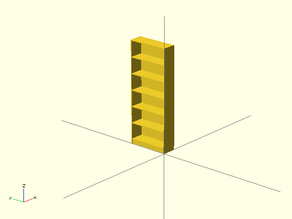 Parametric BILLY Bookcase easily scaled for miniature version