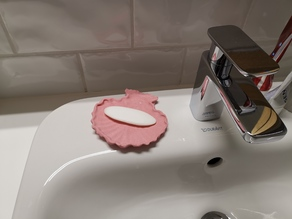 Seashell soap holder