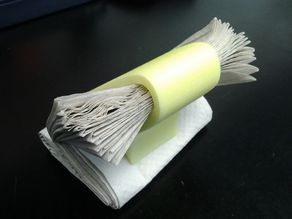 Paper towel scraper - spongemaker