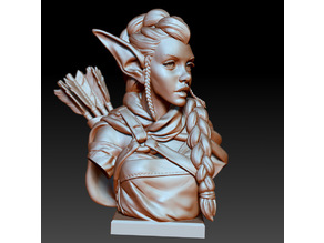 Elf Archer Bust