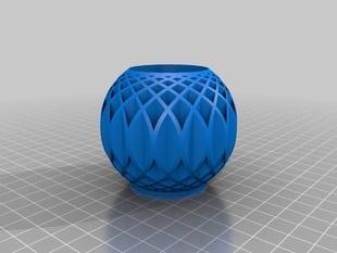Vase from radial tubes