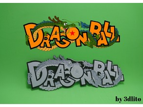 Logo Dragon ball en 3D