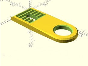 Canopy holder, customizable (compatible to Multiplex Cularis, Easyglider, Easystar, FunJet), completely in OpenScad