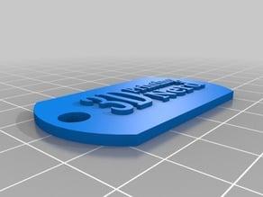 3d printing nerd dog tag