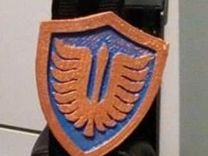 Berserk Hawk Pin Keychain