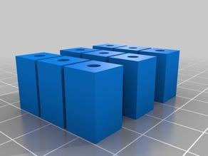 square standoff 3 mm center