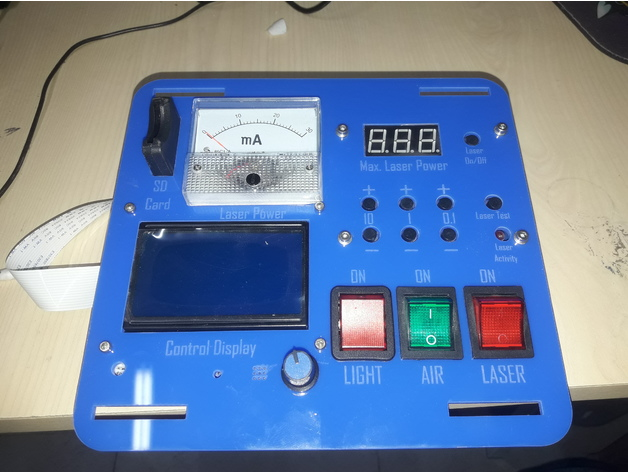 K40 Laser custom control panel by syknarf - Thingiverse