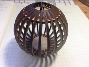 Boule Ornament Remix - 3mm thick - no glue required.
